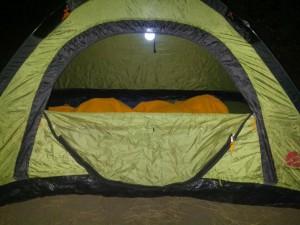 151006 nach Italien 120 das kleine Zelt komprimiert