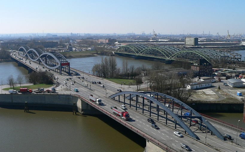 Brücken über die Norderelbe