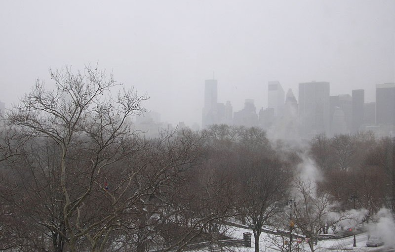 Manhattan bei Schnee