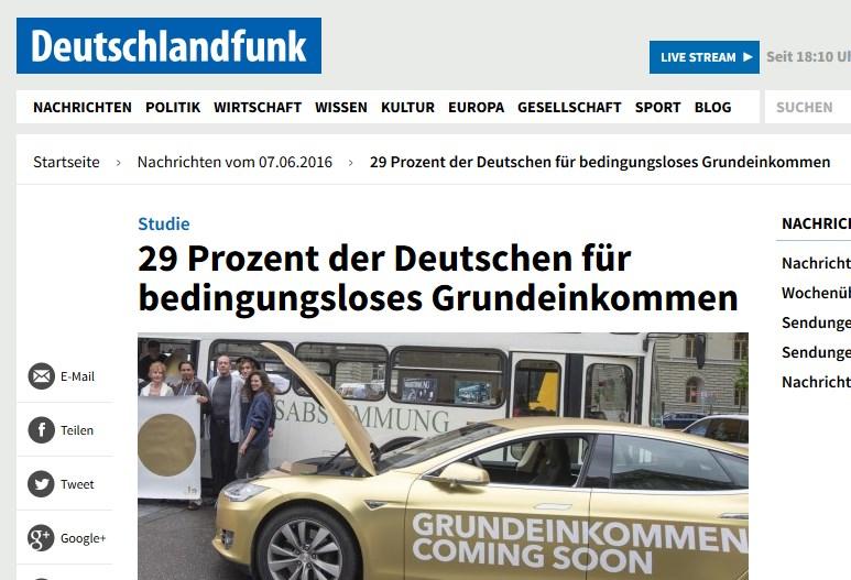 eine Meldung im Deutschlandfunk