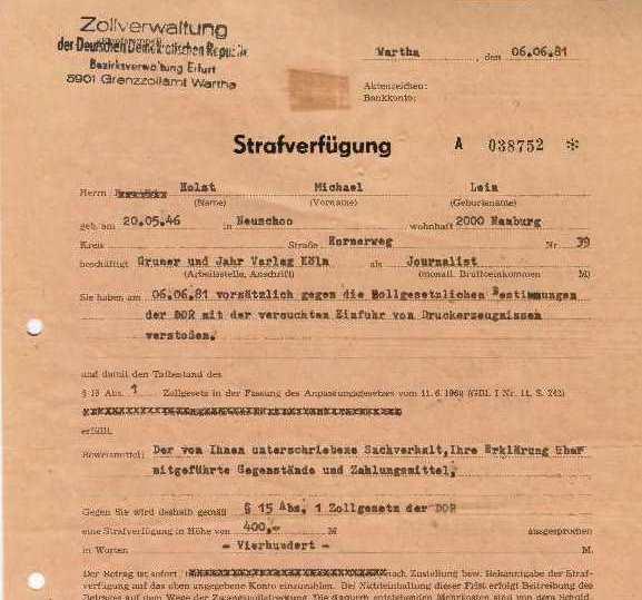 DDR-Strafverfügung