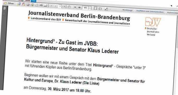 Einladung Hintergrundgespräch JVBB